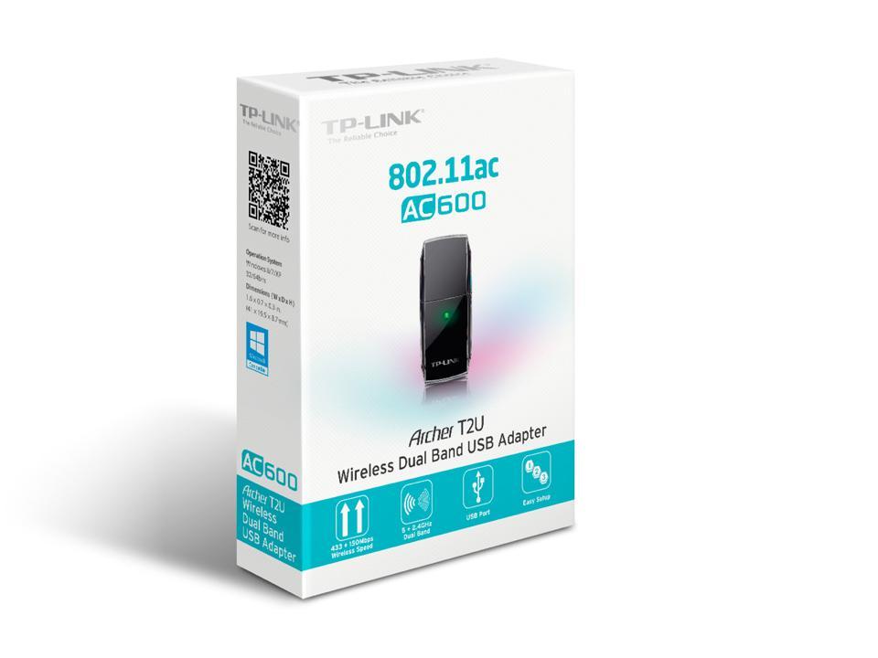Tp Link Archer T2u Ac600 Wireless Usb Adapter Archert2u