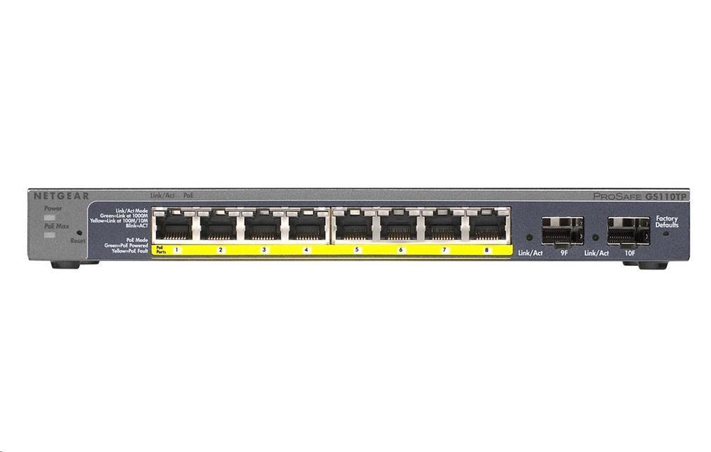 Netgear GS110TP 8 Port Gigabit POE Smart Switch