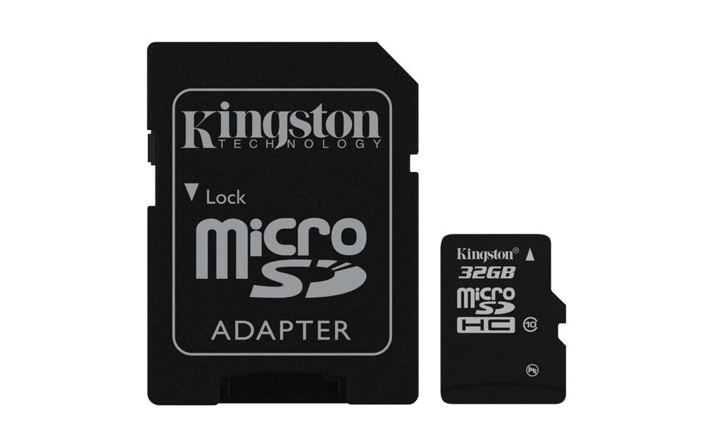 Kingston 32GB microSDHC Card+Adapter $13.95