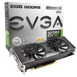 EVGA GeForce GTX 760 Superclocked w/ EVGA ACX Cooler 2GB 02G-P4-2765-KR