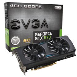EVGA GeForce GTX 970 Superclocked ACX 2.0 4GB Graphics Card 04G-P4-2974-KR
