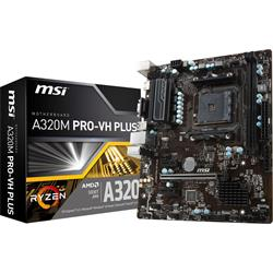 MSI A320M-PRO-VH-PLUS AMD AM4 ATX Motherboard