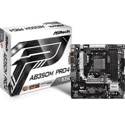 ASRock AB350M Pro4 AM4 AMD ATX Motherboards