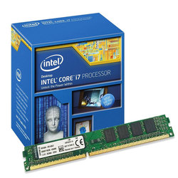 Intel i7-4790 3.6GHz LGA1150 CPU + 8GB DDR3 Ram
