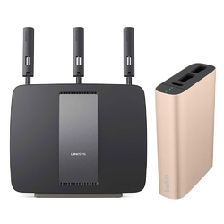 Linksys EA9200 AC3200 Tri-Band Wireless Router + Belkin MIXIT Metallic Power Pack 6600 mAh Gold