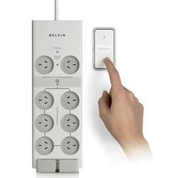Belkin Conserve Switch Surge Protector Powerboard with Wireless Remote F7C01008AU