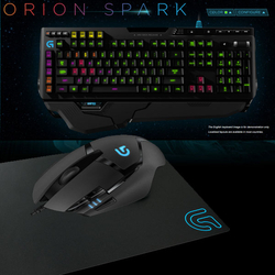 Logitech G910 ORION SPARK RGB Mechanical Gaming Keyboard + G402 Gaming mouse + G240 Gaming Mouse Pad