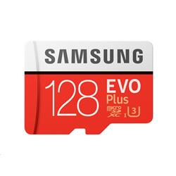 Samsung EVO Plus 128GB 100MB/s 4K U3 Adapter + MicroSD Card
