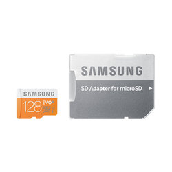 Samsung EVO Micro SDXC 128GB UHS-I Memory Card with Adapter MB-MP128DAAPC