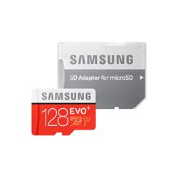 Open Box Sale -- Samsung Evo+ 128GB 80MB/s UHS-I microSD Card+Adapt