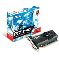 MSI Radeon R7 240 Graphics Card R72402GD3LP 2GB DDR3 PCI-E x16 3.0 Core 730-780Mhz DVI D-SUB HDMI CFS