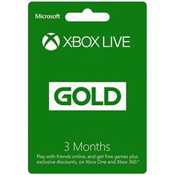 Microsoft Xbox Live Gold 3 Month Subscription