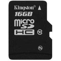 Kingston 16GB microSDHC Card+Adapter