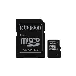 Kingston 32GB microSDHC/SDXC Card Class 10 with SD Adapter SDC10/32GB