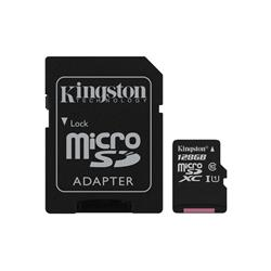 Kingston 128GB MicroSDXC Flash Card Class 10 UHS-I