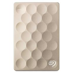 "Seagate Ultra Slim 1TB 2.5"" Gold Portable HDD"