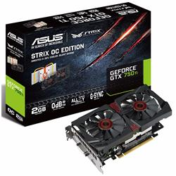 Asus GeForce GTX 750 Ti Strix 1124/1202 MHz 2GB Graphics Card STRIX-GTX750TI-OC-2GD5