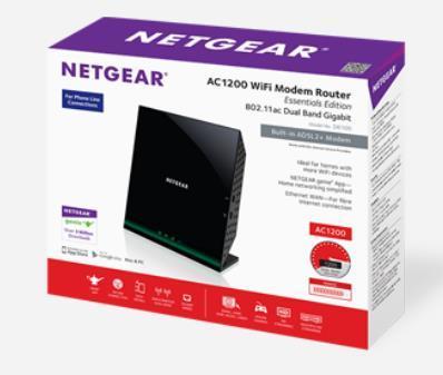 Netgear AC1200 ADSL2+ Wifi Modem Router D6100 & A6100 AC600 Dual Band  Adapter