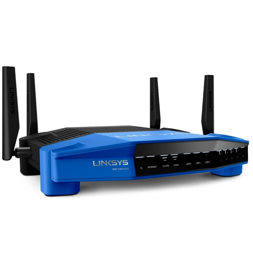 Linksys WRT1900ACS Dual Band Router + SE4008 8 Port Gigabit Switch
