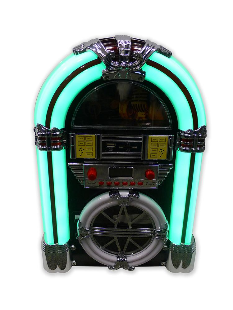 Open Box Sale -- J2D Mini Retro JukeBox Bluetooth Speaker LED