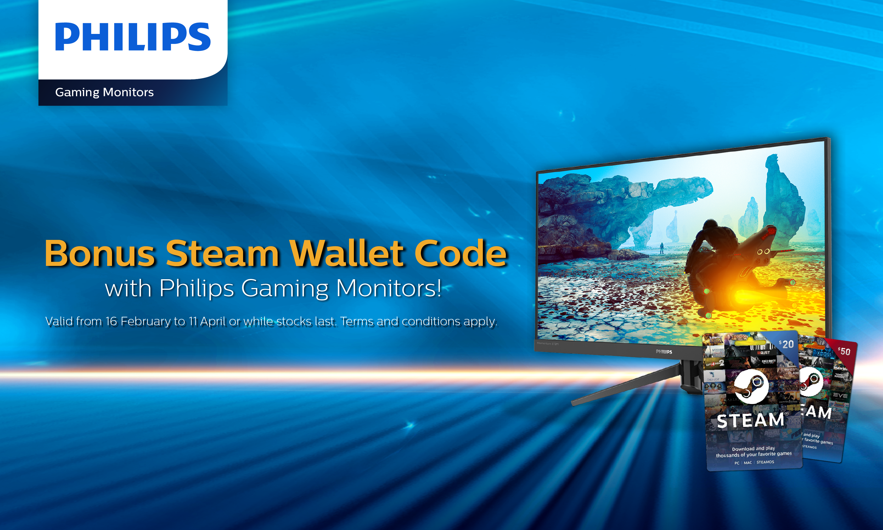 Philips Monitors - AU End User Promotion Steam Wal