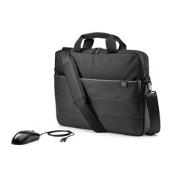 HP 15.6'' Classic Briefcase and USB Mouse