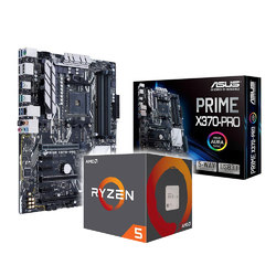 AMD Ryzen 5 2600 3.40GHz CPU and and Asus PRIME-X370-PRO Motherboard