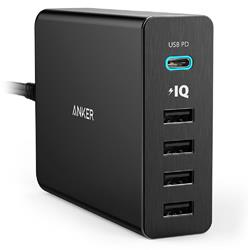 Anker A2053T11 PowerPort 5 Ports 60W USB-C Quick Charge 3.0 Charger