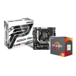 AMD Ryzen 5 1600 CPU and Asrock B350M Pro4 Bundle
