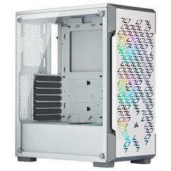Corsair iCUE 220T RGB Airflow Tempered Glass White Mid Tower ATX Case