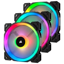 Corsair LL120 RGB 120mm Dual Light Loop RGB LED PWM Fan - 3 Fan Pack