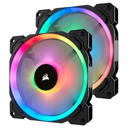 Corsair LL140 RGB 140mm Dual Light Loop RGB LED PWM Fan - 2 Fan Pack