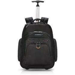 "Everki Atlas 17.3"" Wheeled Laptop Backpack Adaptable Compartment"