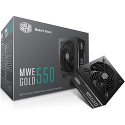 Cooler Master MWE 550W 80 Plus Gold ATX Power Supply Flat Cable Design