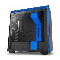 NZXT H700 Tempered Glass Matte Black+Blue Mid Tower EATX Case