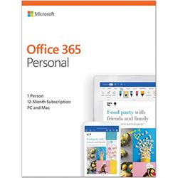 Microsoft Office 365 Personal 1 PC or Mac 1 Year Subscription