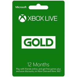 Microsoft Xbox Live Gold 12 Month Subscription