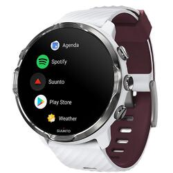Suunto 7 GPS Sports Smartwatch Wear OS by Google (White Burgundy)