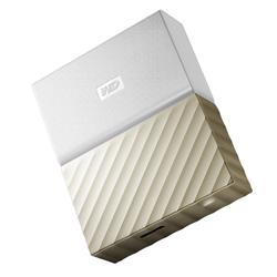 WD My Passport Ultra 2TB USB 3.0 White Gold Portable Drive
