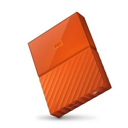 "WD My Passport 2.5"" 4TB Orange Portable Hard Drive"