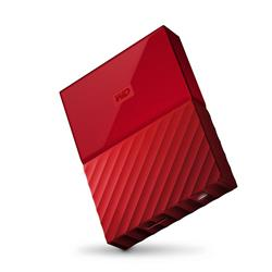 "WD My Passport 2.5"" 4TB Red Portable Hard Drive"
