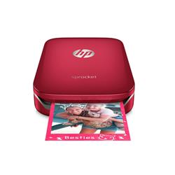 HP Sprocket Photo Bluetooth Red Portable Printer